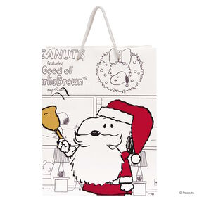 PEANUTS Geschenktasche Santa Snoopy groß