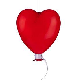 DREAMLAND Glas Ballon Herz 12cm rot
