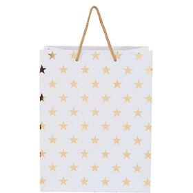 X-MAS Geschenktüte Sterne gold, groß