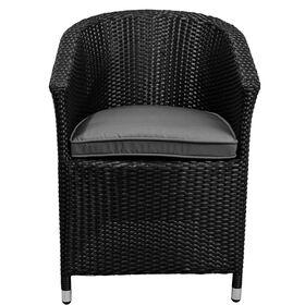 IN AND OUT Stuhl mit Kissen schwarz