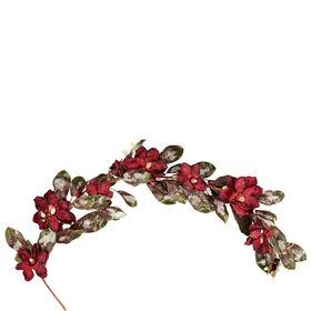 WINTERGREEN Magnolien Girlande rot 140