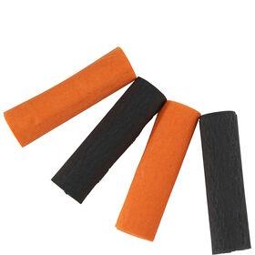 HALLOWEEN Papierbänder orange/schwarz