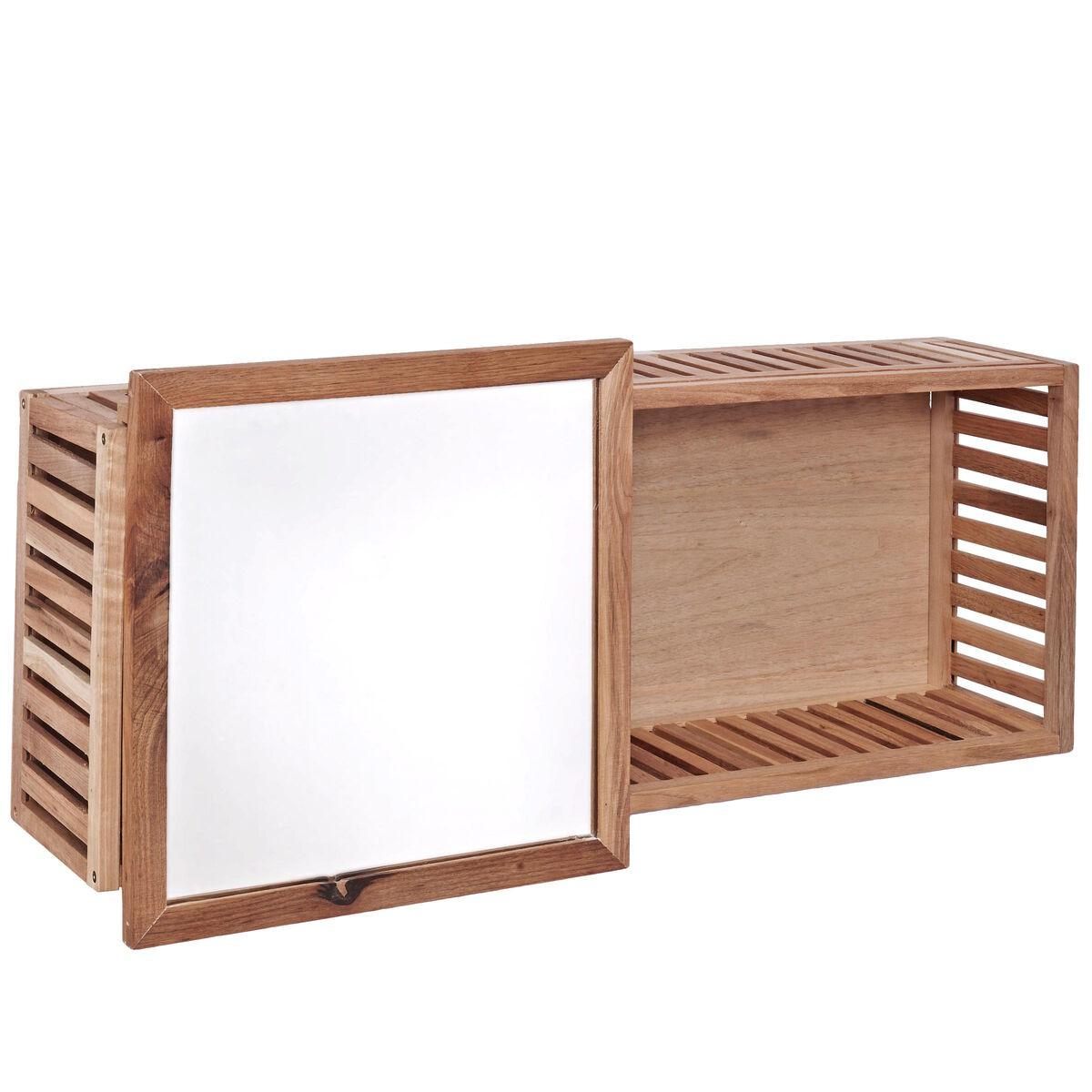 nature spa wandregal mit spiegel butlers. Black Bedroom Furniture Sets. Home Design Ideas