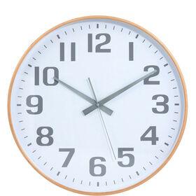 TIMBER TIME Wanduhr Ø 32cm weiß