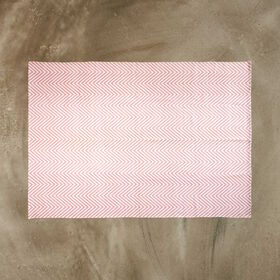 SILENT DANCER Teppich Fischgrat rosa 160
