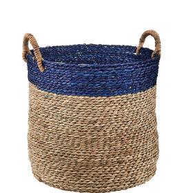 BASIC BRAID Korb natur/blau, 35 cm