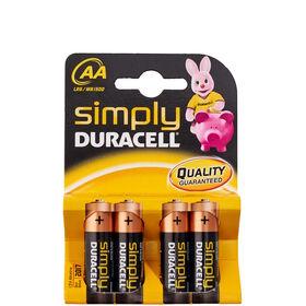 DURACELL Batterien 4er Set AA