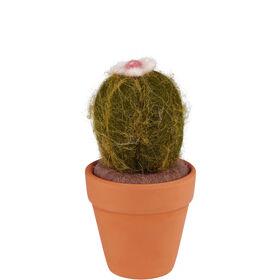 MEXICO Kaktus aus Filz. 11cm rund