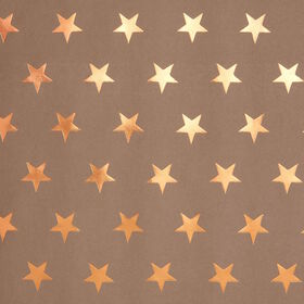 SURPRISE Kraftpapier Sterne kupfer