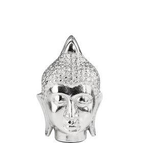 ASIA Buddhakopf antik Aluminium H18cm