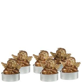 FLAMBEAU Teelicht Engel gold 6 Stk.