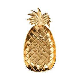 PINEAPPLE Deko Schale 30cm gold
