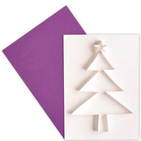 CARD Klappk.farb.m.Ums.: Baum Papier