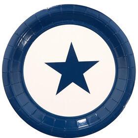STARS Pappteller 10 Stück Stern blau gro