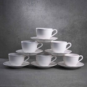 EATON PLACE Kaffeetasse m Untertasse 6St