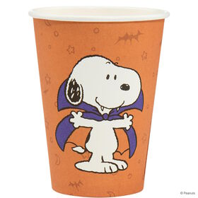 PEANUTS Pappbecher Snoopy Vampir orange