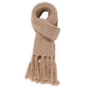 BOUTIQUE Schal mit Fransen taupe
