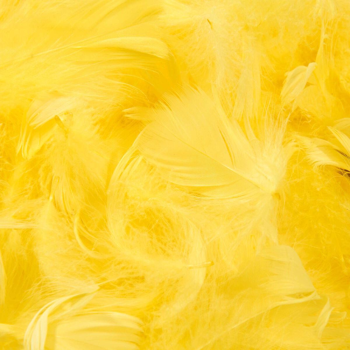 EASTER Dekofedern, gelb