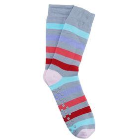 COZY SOCKS Socke Streifen gr/ pink 39-42
