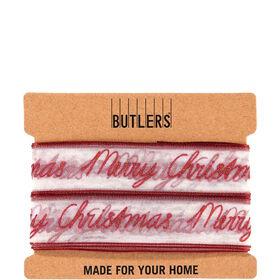 RIBBON Geschenkband Merry Christmas rot