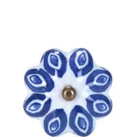 OPEN Möbelknopf Ornament blau