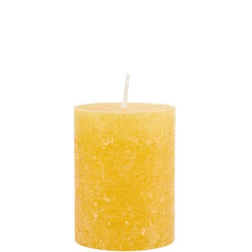 RUSTIC Kerze 6,8x9cm gelb
