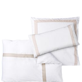 NEW HAVEN Bettwäsche weiß-beige
