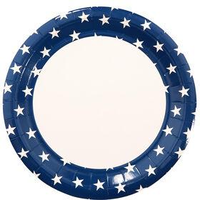 STARS Pappteller 10 Stück Stern blau kle