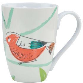 SUMMER BIRDS Tasse Vogel orange