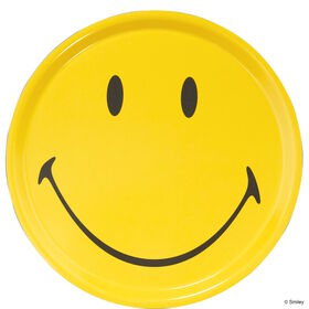 SMILEY Tablett Smiley gelb rund