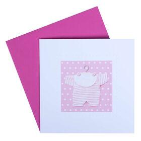 CARD Dop.quad.m.Ums.: Naissance rose