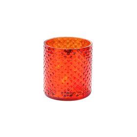 DELIGHT Teelichthalter Glas 8cm, orange