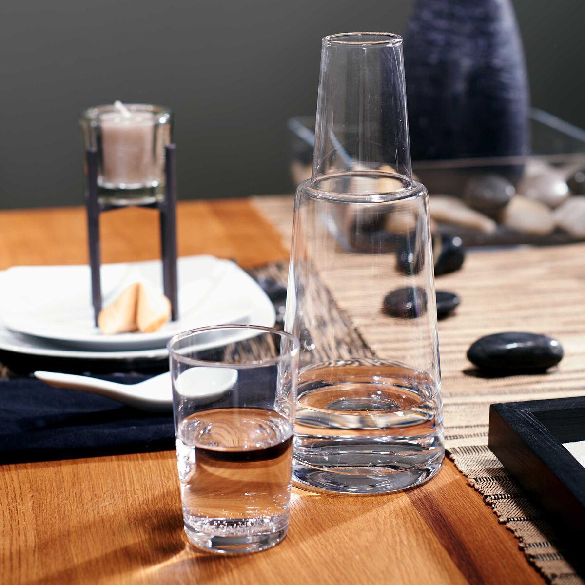WATER Glas-Karaffe 800 ml mit Trinkglas