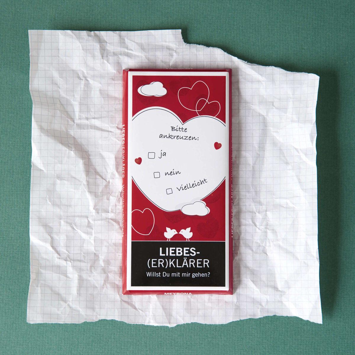 """GREETS """"Liebeserklärer"""" Schokolade 100g"""