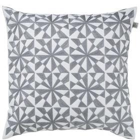 FANCY Kissen Geometric 45x45cm,weiß/grau