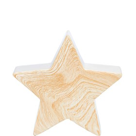 STAR Stern Keramik/Holzoptik 16cm