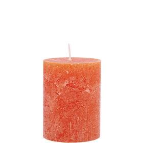 RUSTIC Kerze 6,8x9cm orange