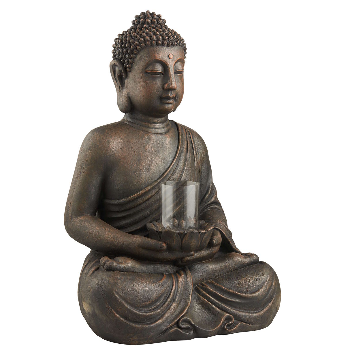 buddha deko figur mit windlicht butlers. Black Bedroom Furniture Sets. Home Design Ideas