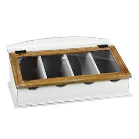 CAMPAGNE Besteckkasten mit Glasdeckel