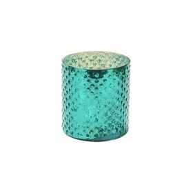 DELIGHT Teelichthalter Glas 8cm, türkis