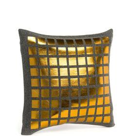 MIAVILLA Kissenhülle grau/goldfarben