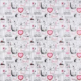 PEANUTS Geschenkpapier Snoopy Comic Love
