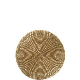 SHINE ON Untersetzer gold Perlen Ø 10cm