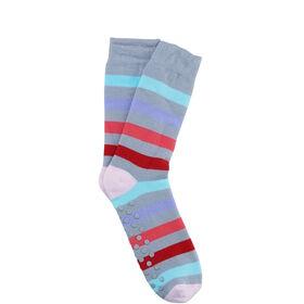 COZY SOCKS Socke Streifen gr/ pink 35-38