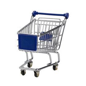 SUPERMARKET Einkaufswagen klein blau