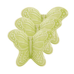 BUTTERFLY Schmetterling 3er Set 4cm,grün