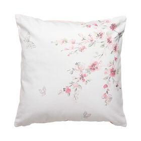 HANAMI Kissen Blüten 45x45 cm weiß/rosa