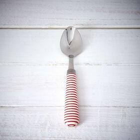 BISTRO Kaffeelöffel Streifen rot/weiß