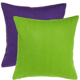 TWO TONES Kissen 50x50cm lila/grün