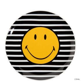 SMILEY Teller s/w Wellen 20,0 cm